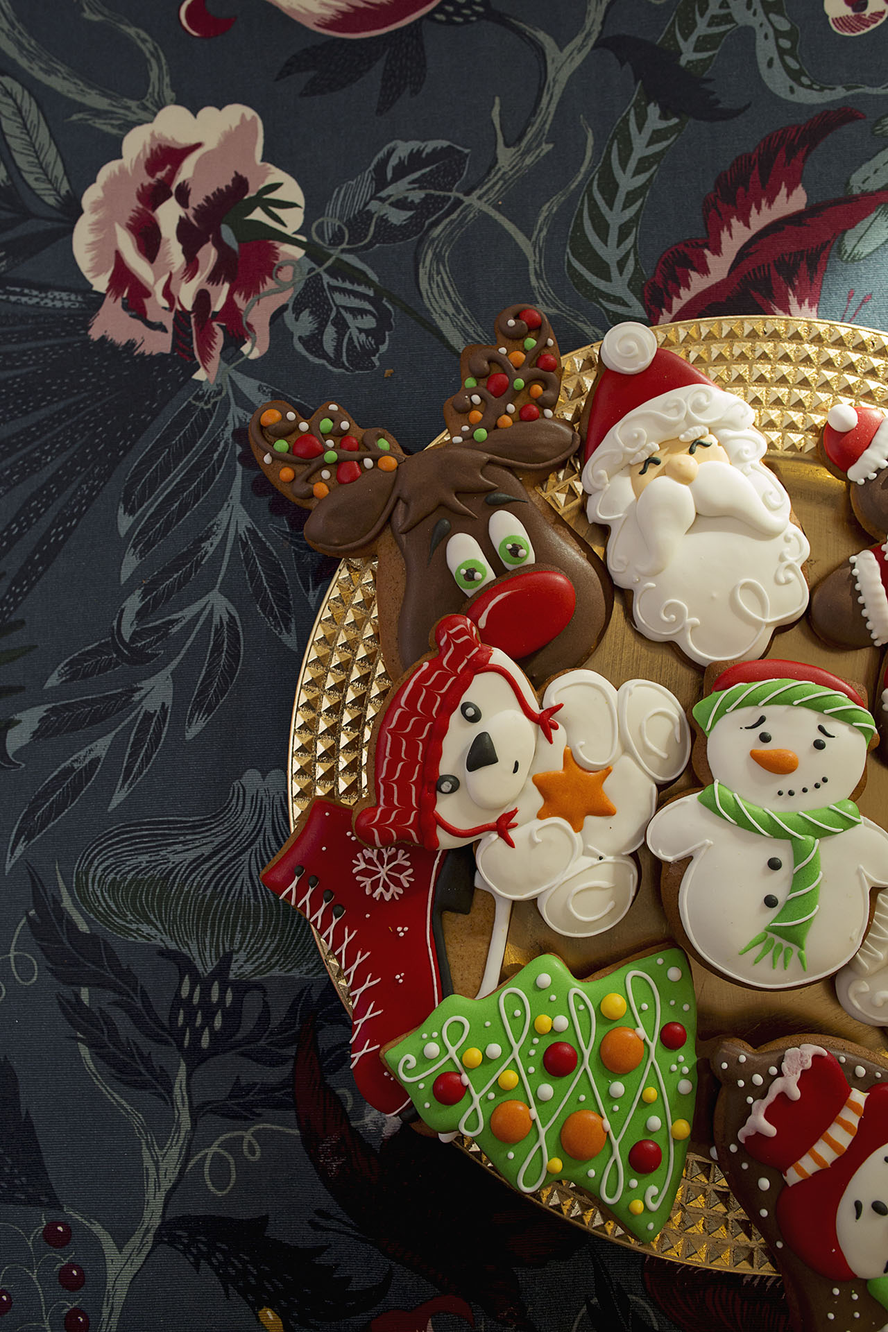 Bożonarodzeniowe pierniki ręcznie zdobione przez Magdę. Fot. Monika Kegel